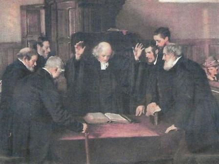 The Ordination of Elders By J M Lorimer RSA (From 'The Kirk and its Worthies' By Nicholas Dickson)