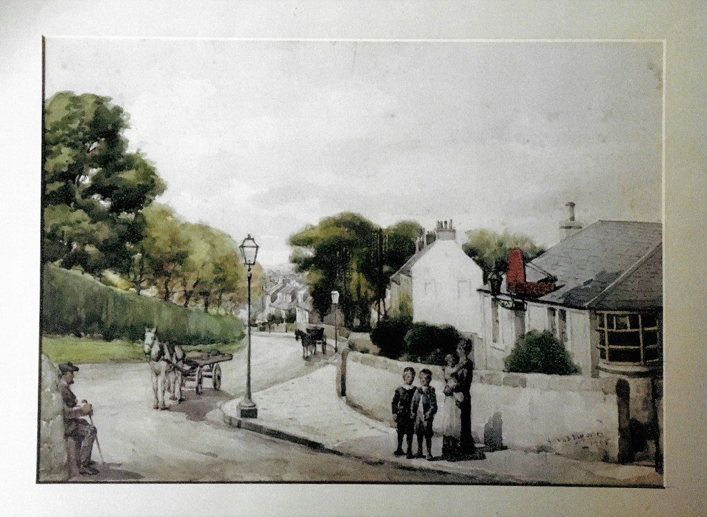 Painting - The Junction of Hospital Hill and Aberdour Road by Adam Westwood