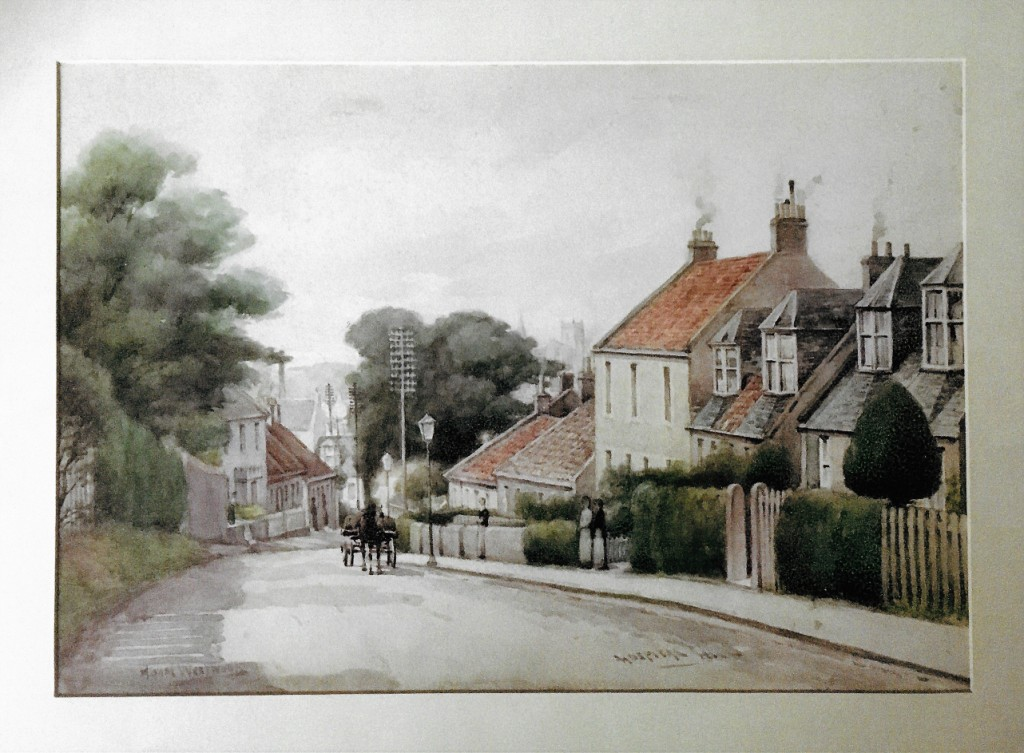 Painting - Hospital Hill with distant view of the Abbey by Adam Westwood