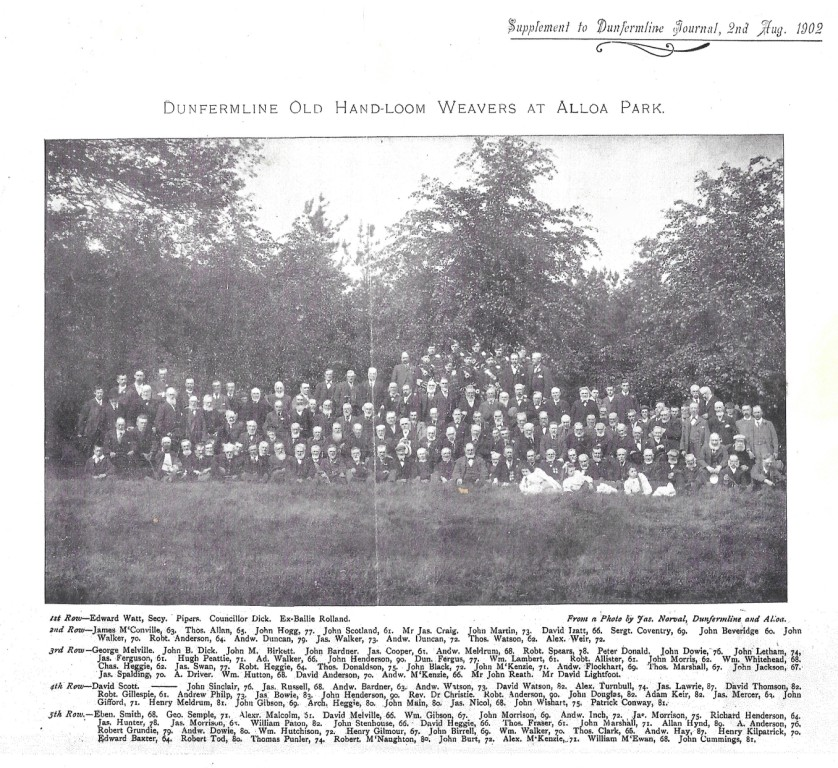 Group photo of the Weavers outing in 1902