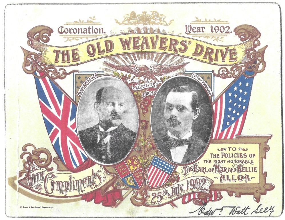 Image of a ticket for the 1902 Auld Weaver's Drive