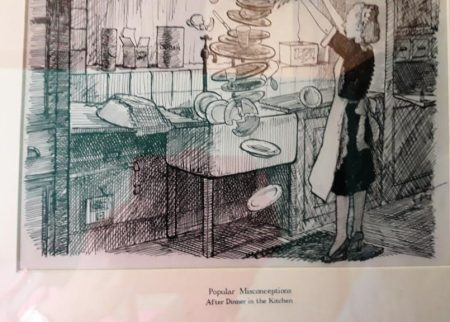 "Cartoon of ""Popular Misconceptions - After Dinner in the kitchen"""