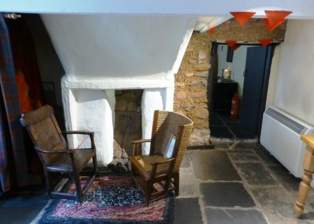 Photo of the hanging lum in High Miller's Cottage