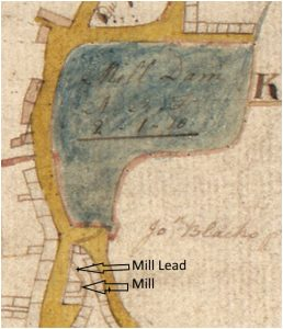 Map of the Mill Dam