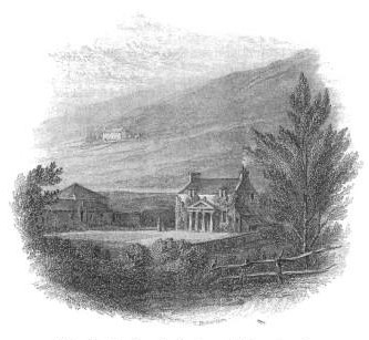 Sketch of Abbotsford in 1812, the farmhouse before extension