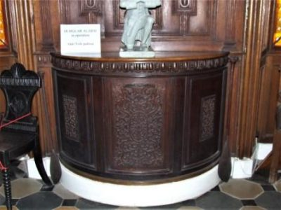 Photo of side table made from Dunfermline Abbey Pulpit