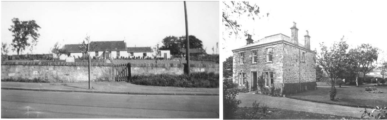 Photos of the possible the original residence of Robert Black on the north side of Halbeath Road opposite Touch Gowanbrae House, Garvockhill