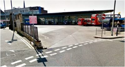 Photo of the Dunfermline Bus Station – the exit into North Chapel Street
