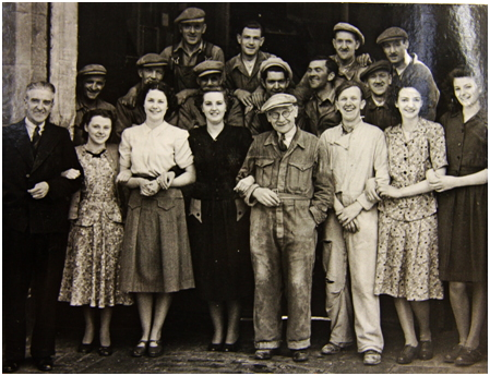 Photo of some of Elder's staff in 1949