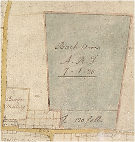 1771 Map of the Back Acres