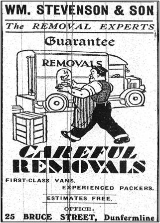 Stevenson Advert from 1940