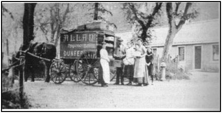 Photo of Andrew Allan's 'Hygienic' Bakery Van at Charlestown