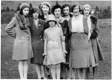 Photo of Allan's staff above c. 1930