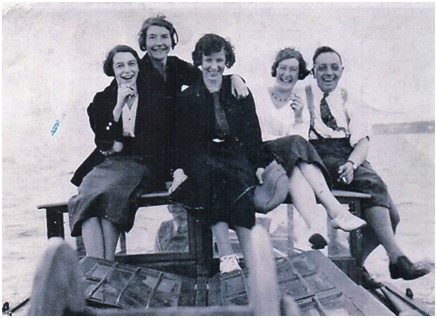 Photo of Allan's staff c. 1945. with Andrew Allan Jnr. on the right of the picture.