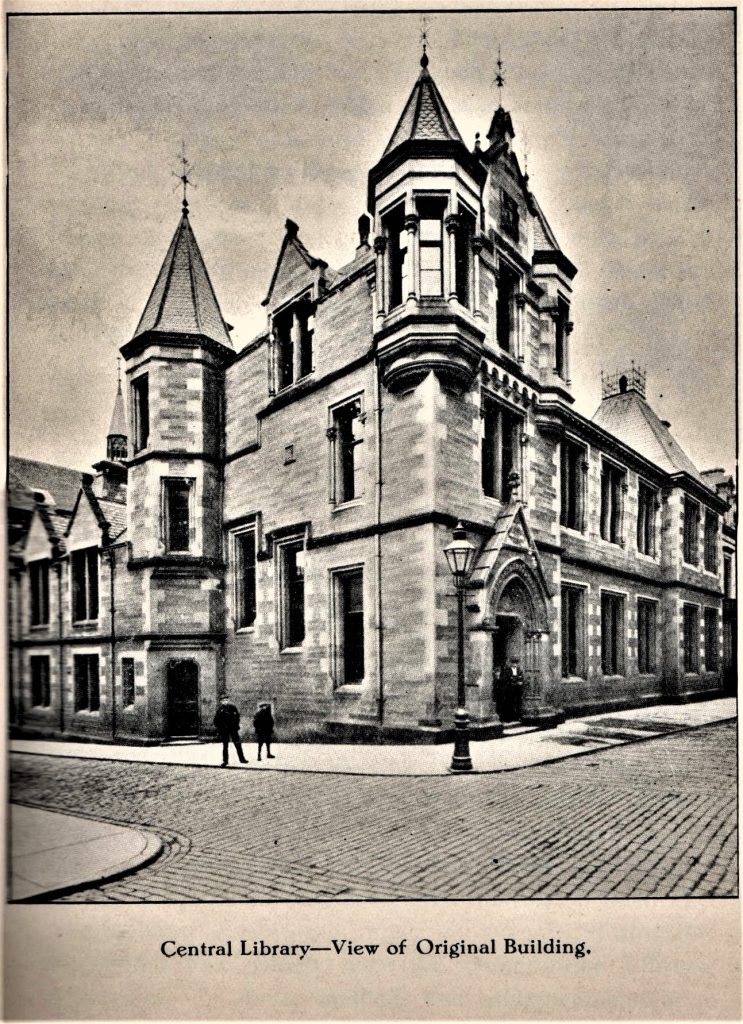 An early, c1905, view of the original Carnegie Library. Author's collection
