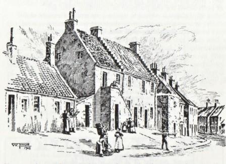 The original Tradesmen's Library, Nethertown, Dunfermline. Sketch by William Thomson 1902