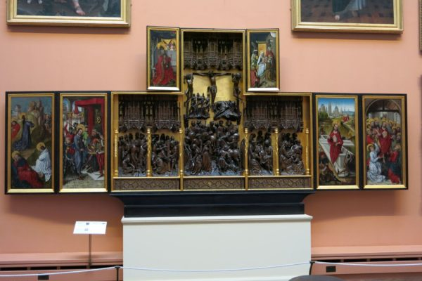Photo of a 15th C Flemish altarpiece