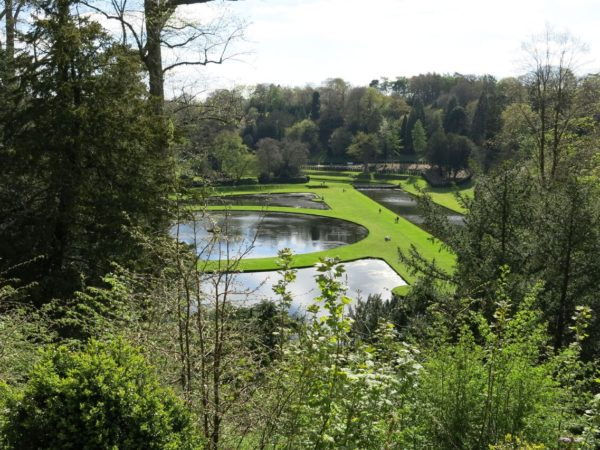 Photo of the ponds from the Octagon Tower