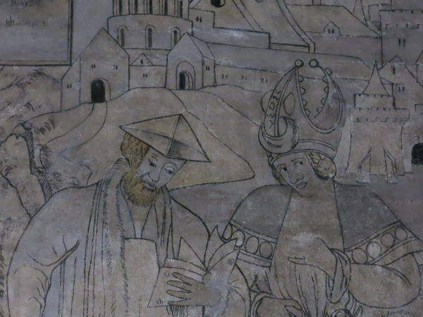 "Mural detail from the ""Good Samaritan"""
