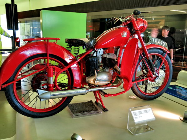 BSA Bantam motorbike for delivering telegrams