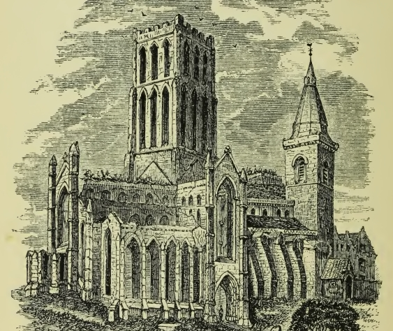 Engraving from Alexander Stewart's Reminiscences of Dunfermline