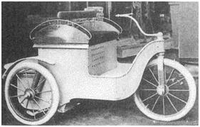 Photo of the Tod Three-Wheeler prototype motor car