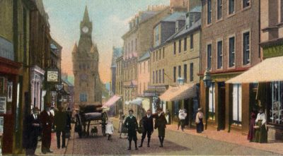 Early photograph of Dunfermline High Street