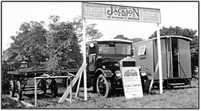 Photo C. 1935 – A Jackson display featuring an Albion Lorry, probably at a local agricultural show