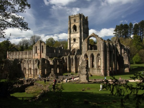 Photo of Fountains Abbey from the South