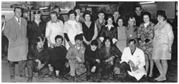 Photo c.1970 – A line up of Goodall's Staff