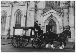 Photo of the type of Horse-Drawn Hearse supplied by Goodall – C. 1900