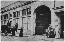 Photo of 'Goodall's Stables' Queen Anne Street Entrance - 1890