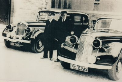 Photo C. 1940 – Goodall's War-Time Limousines with Chauffeurs Willie Leslie & Jimmy McPherson