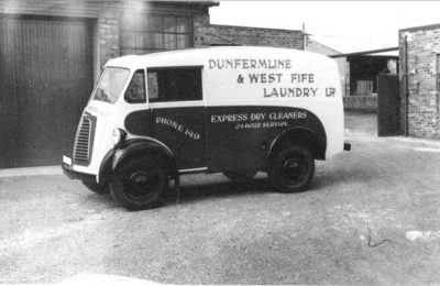 Photo of a Hill's Laundry Delivery Van c. 1955