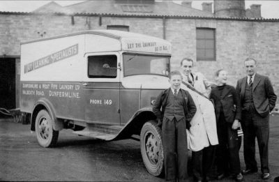 Photo of Van Driver Guy Thomson with John Hill & Van Boys