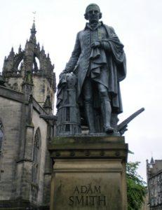 Statue of Adam Smith in Edinburgh's Royal Mile