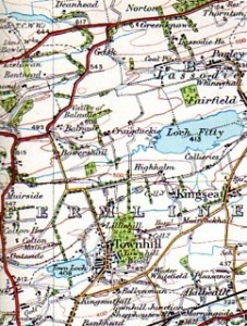 Lassodie on the Ordnance Survey map of 1923