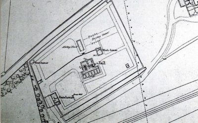Plan of the prison as shown on an 1856 OS map