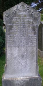 Photo of Mary Thomson's headstone in the Halbeath Road cemetery