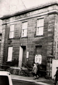 Photo of the front of the Masonic Lodge before its demolition to make way for goods entrance to the Kingsgate