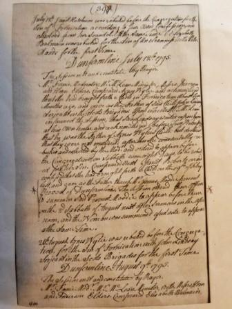 Image of Kirk Session Records July 1795