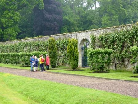 Photo of DHS members visiting the Walled Garden at Floors Castle