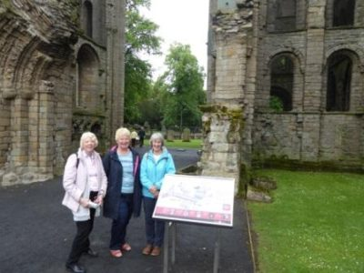 Photo of DHS members visiting Kelso Abbey