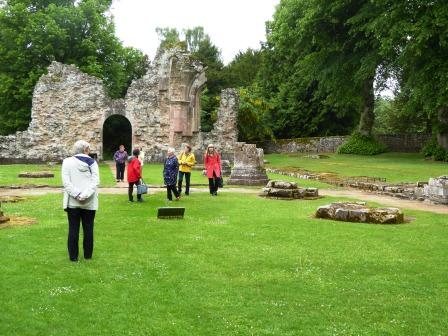 Photo of DHS members visiting Dryburgh Abbey