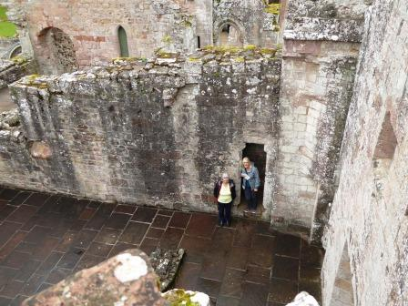 Photo of DHS members from the top of the Abbey walls