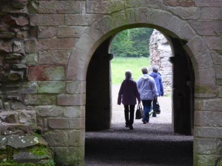 Photo of Dryburgh Abbey, Entrance to the Parlour