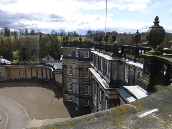 The East front of Hopetoun House from the roof