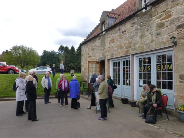 Society members outside the Kinneil Museum