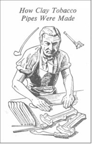 Sketch of a clay-pipe maker at work