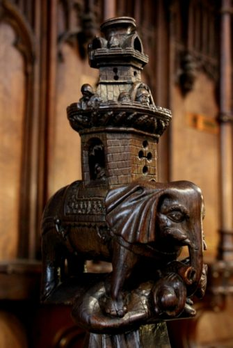 Wood carving in the Quire